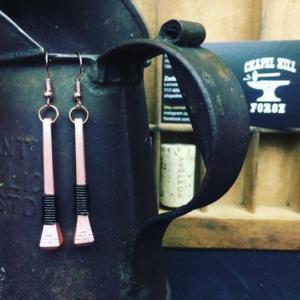 long metal earrings