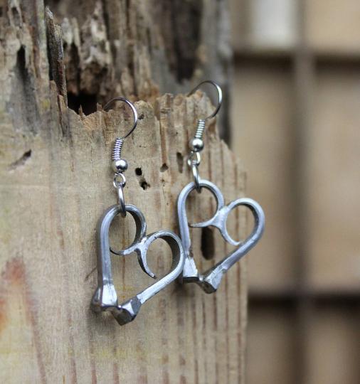 simple heart charm earrings