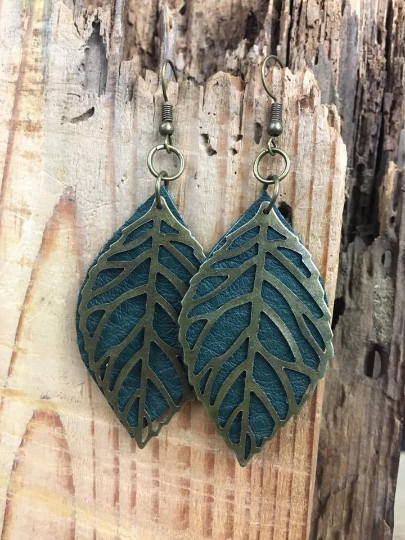 leather earrings for essential oils