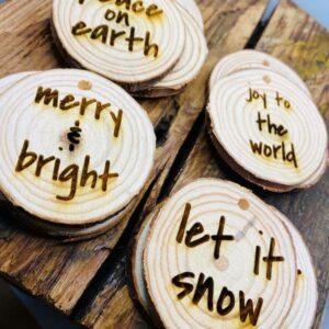 Wooden Circle Ornaments