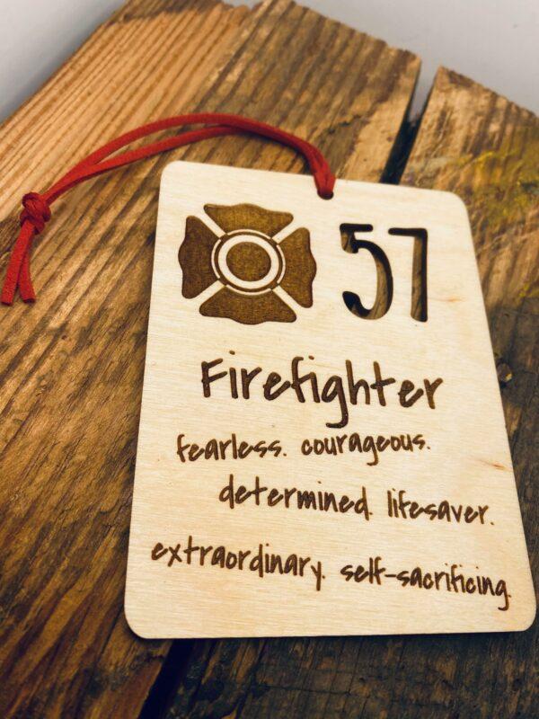 firefighter ornament