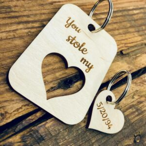 personalized couples keychain